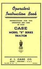 Case Model S SC Early Tractor Operator Manual