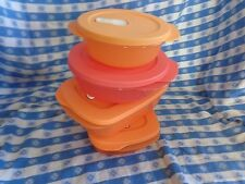 TUPPERWARE New CRYSTALWAVE 4-PC FAMILY SET Microwave leftovers