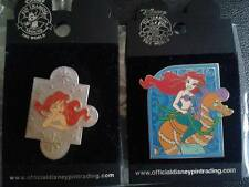 Disney Little Mermaid Puzzle Piece Ariel and Ariel with Sea Horses 2 Pins