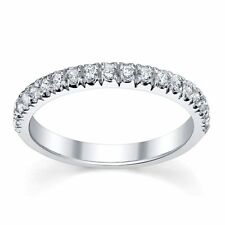 0.25ct  Round Diamond Micro Pave Set Half Eternity Ring in White Gold