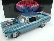 SUPERCAR GMP 1969 CHEVY YENKO 1:18 STREET BLOWN NOVA STEEL BLUE 420 MADE ACME