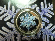 CANADA 2006 FIRST COLORED DOLLAR SNOWFLAKE SILVER COIN
