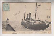 VINTAGE POSTCARD - FRENCH OCEAN SHIP - LA NORMANDIE