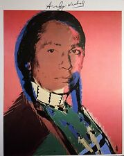 ANDY WARHOL HAND SIGNED * THE AMERICAN IND... (RUSSEL MEANS) *  PRINT  W/ C.O.A
