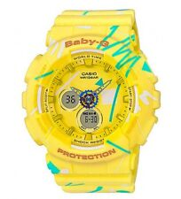 Casio Baby-G * BA120SC-9A Graffiti Design Yellow Anadigi for Women COD PayPal