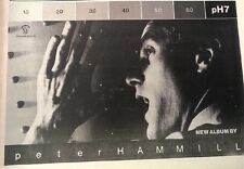 PETER HAMMILL pH7 album 1979 UK Press ADVERT 12x8 inches (Van Der Graaf)