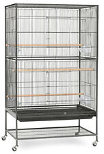 Extra Large Wrought Iron Flight Multiple Sugar Glider Cage With Rolling Stand491