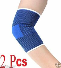 2 Elbow Brace Elastic Muscle Support Compression Sleeve Sport Pain Relief T