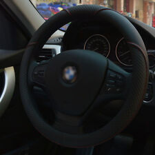 HQ Durable PU leather Car Auto Steering Wheel Cover 15'' 38cm All Seasons Fit BK