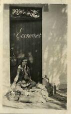 PHOTO ANCIENNE - VINTAGE SNAPSHOT -SCOUTISME SCOUT JEANNETTE ÉCONOMAT REPAS 1929