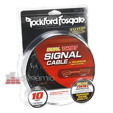 Rockford Fosgate RFIT-10 RCA 10 ft. 2-Channel Dual Twist RCA Interconnect Cable