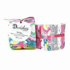 Lindsey - Jelly Roll Of 100% Cotton Fabric From 3 Wishes - 20 Pieces / Strips