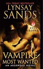BOOK Vampire Most Wanted by Lynsay Sands An Argeneau Novel (2014, Paperback) NEW