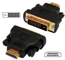 HDMI per DVI-D Maschio Convertitore Adattatore Connettori placcati in oro Gender Changer HDTV