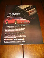 1991 PONTIAC GRAND PRIX GTP  ***ORGINAL AD***