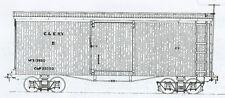 Funaro F&C 1003 HOn3 CAIRO & KANAWAHA  C&K Boxcars Narrow Gauge TWO (2) Car Kits