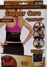 Copper Infused Compression Brace for Back S/M …