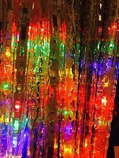See Video 25000 hours LED dripping Multi Color icicle Christmas lights set 8