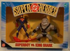 DC Comics Superheroes - Superboy Vs. King Shark With Surf Board By Hasbro (MIB)