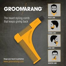 Groomarang Beard Comb Styling and Shaping Template Comb For Trimming Facial hair