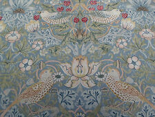 William Morris & Co Curtain Fabric 'Strawberry Thief' 2.7 METRES Slate/Vellum