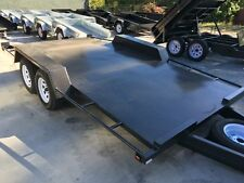 14x6'6'' CAR CARRIER Beaver Tail Car Trailers Tandem Trailer