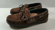 Acorn Sport Moc Casual Brown Leather Mens Moccasin Comfort - Size 7.5M