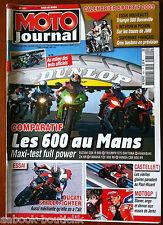 Moto Journal 2/04/2009; Comparatif les 600 au Mans/ Ducati Streetfighter/ Triump