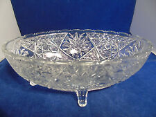 Indiana Glass Rosette with Pinwheels Oval Bowl
