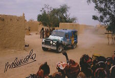 Henri Pescarolo Hand Signed 12x8 Photo Land Rover Dakar Rally.