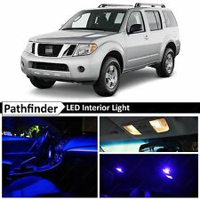 12x Blue Interior LED Lights Package Kit for 2005-2012 Pathfinder + TOOL