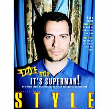 Batman Vs Superman HENRY CAVILL PHOTO COVER INTERVIEW STYLE MAGZINE MARCH 2016