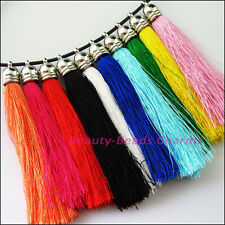 10 New Cord Rayon Cell&Mobile Phone Dangle Strap/Lariat Charm Lanyard Mixed 85mm