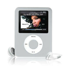 "MP4 MP3 Music Video Player Slim 1.8"" LCD Screen FM Radio Voice Recorder Silver"