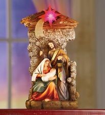 NEW! CHRISTMAS NATIVITY WITH LIGHTED STAR COLLECTIBLE TABLETOP DECORATION