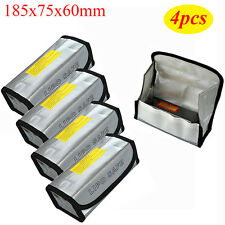 4X 185x75x60mm LiPo Battery Safe Guard Charging Protection Bag Explosion Proof