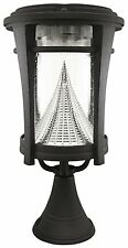 Solar Outdoor LED Light Fixture Lamp Deck Lighting for Post Pole Wall Black
