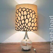 alte Doria Tisch Lampe Glas mundgeblasen Lese Leuchte 60er 70er Jahre vintage