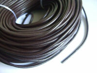 1,3,5 Meters 4mm Round Dark Brown Genuine Real Leather Finding Cord String Lace