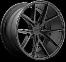 Niche Misano M117 17X8 5X112 +40 Black Matte Rims Fits Mercedes C300 C350 2008up
