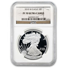 2010-W Proof Silver American Eagle Coin - PF-70 UCAM NGC - SKU #64335