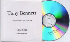TONY BENNETT Playin' With My Friends UK 15-trk promo test CD