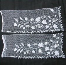 2 ELEMENTS DENTELLE AU FUSEAU BRODEE fin XIXè LACE Embroidery handmade 19thC