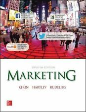 Marketing by William Rudelius, Steven Hartley and Roger Kerin (2014, Hardcover)