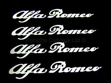 4x 86mm ALFA ROMEO WHITE Brake Caliper Decal Stickers High Temp
