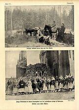 Kriegs-Bilddokumente aus dem Osten: Zerschossene Kirche in Andrejew u.a.von 1915