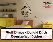 Walt Disney - Donald Duck Cartoon Logo Wall Vinyl Sticker