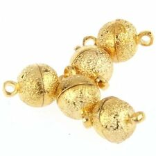 5 MAGNETIC METAL GOLD NECKLACE MAGNET CLASP  T1