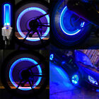 Blue LED Lamp Flash Tyre Wheel Valve Cap Light For Car Motorcycle Bicycle Bike