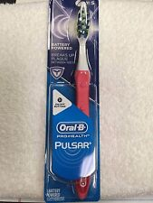 Oral-B, Pulsar, VIBRATING BRISTLES, TOOTHBRUSH, DEEPER CLEAN, PINK/RED